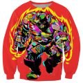 Harajuku Style Tie Dye Hoodie Pullovers X-Men Fire Juggernaut Crewneck Sweatshirt Jumper Women/Men Graffiti 3d Hoodies Outerwear