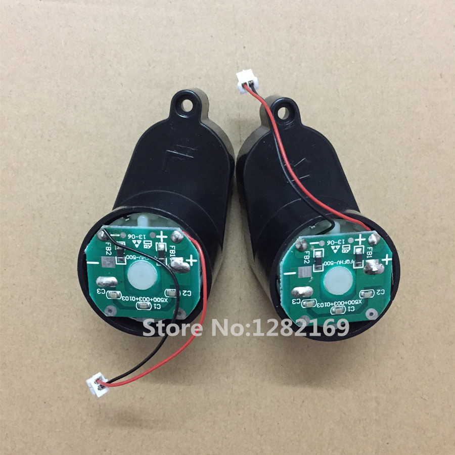 1x Left Motor Assembly + 1x Right Motor Assembly for X500 Robot Ecovacs X580,KK8,CR120 Fmart E-55G right combination headlight assembly for lifan s4121200