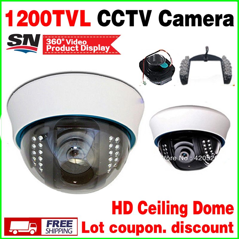 Big sale!1/3cmos 1200TVL Cctv hd dome Camera Surveillance Indoor 22LED Infrared IR-CUT Night Vision monitoring security vidicon give 2a power hd 1 3sony effio e ccd 700vl security surveillance dome cctv camera osd meun blue 24led hd night vision vidicon