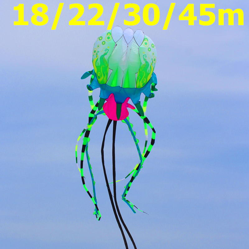 free shipping large soft jellyfish kite nylon ripstop outdoor toys kites for adults octopus kite wheel weifang kite factory цена и фото