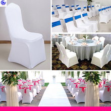 Solid Removable Spandex Stretch Elastic Hood Seat chair cover Hotel Dining Room Wedding Banquet Washable Slipcover 2 PCS/ pack