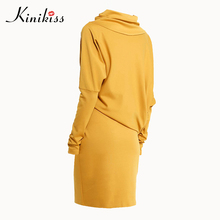 fdccf101daa8a bodycon dress Hot sale 2018 long Sleeve turtleneck office dress plus size  sheath Pullover patchwork yellow