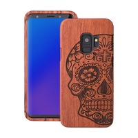 100 Natural Wood Case For Samsung Galaxy S9 Cover Real Wooden Walnut Rosewood Bamboo Phone Cases