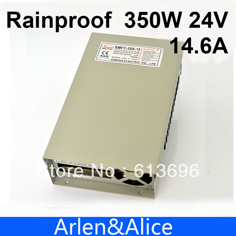 350W 24V 14.6A Rainproof outdoor Single Output Switching power supply smps AC TO DC for LED