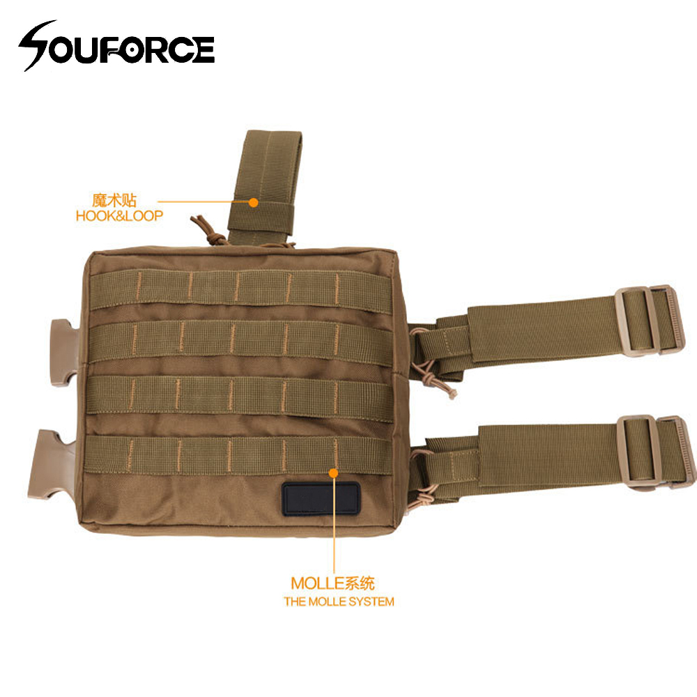 8 Color Army Military Molle Tactical DUMP Drop Leg Panel Utility Pouch Paintball Airsoft Storage Magazine Camo Waist Bag airsoftpeak military tactical waist hunting bags 1000d outdoor multifunctional edc molle bag durable belt pouch magazine pocket