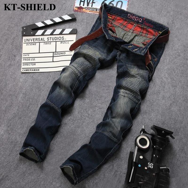 2017 Brand Mens Jeans Straight Slim Fit Denim Pants Men Vaqueros hombre Fashion Casual Jeans Cotton