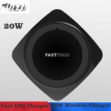 Fiuzd 20 Вт Qi Беспроводной Зарядное устройство для huawei MAX Коврики 20 P20 Pro USB Зарядное устройство для iPhone Xs Max X быстро Зарядное устройство для оптоволоконного кабеля samsung s10 9