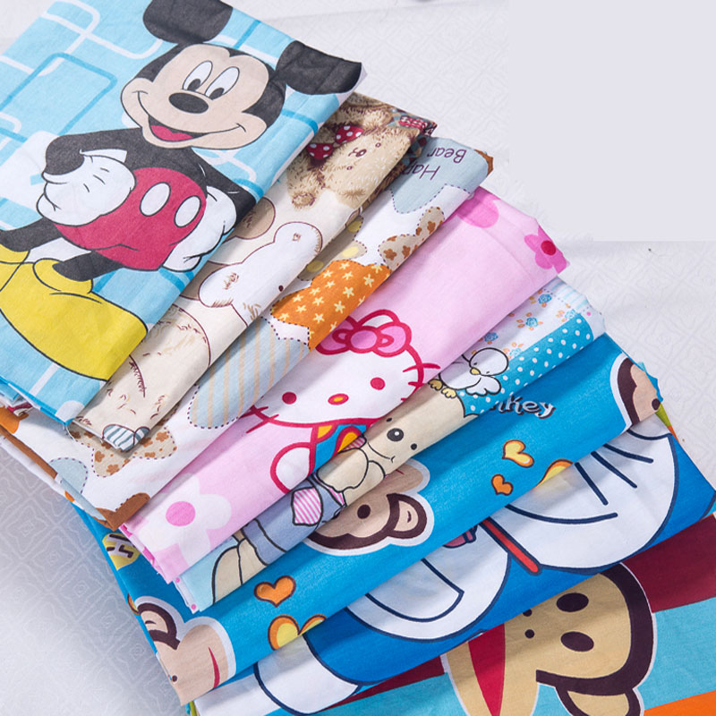 12pattern cartoon printed 100 cotton fabrics for sewing