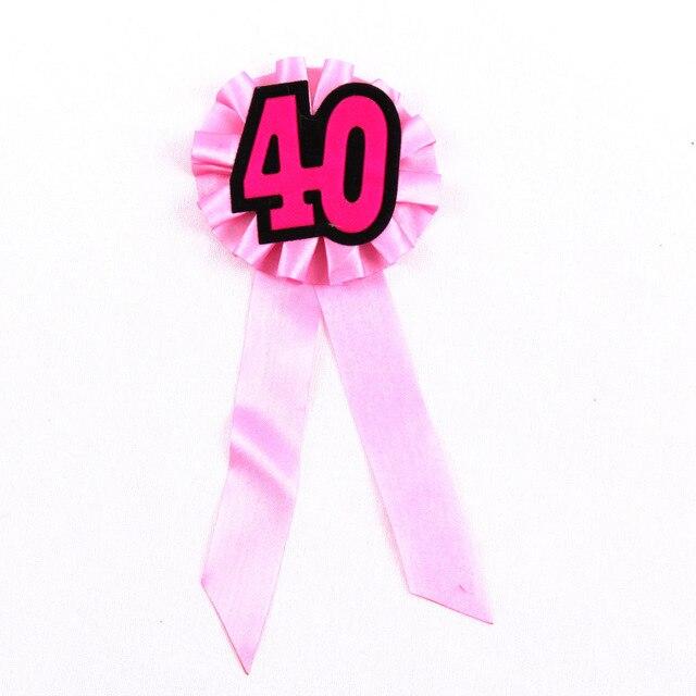 2 Stks Lady 40 Jaar Ceremony Verjaardag Gunst Meisjes Badge Vrouw