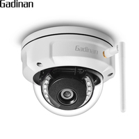 GADINAN iCSEE Dome IP Camera Vandal proof 5MP 2592*1944 WiFi 2.4G Wireless Wired Security Cam with Built in Micro SD Card Slot