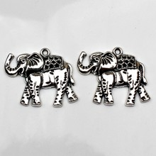 3pcs Charms Thailand elephant 32*36mm Antique Tibetan Silver Pendant Finding Accessories DIY Vintage bracelet Necklace Handmade(China)