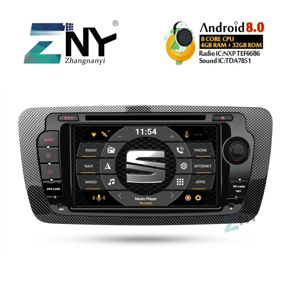 4 gb 7 IPS Affichage Android 8.0 DVD De Voiture Pour Seat Ibiza Auto Radio FM 2 Din Stéréo WiFi GPS Navigation Audio Vidéo Caméra De Recul