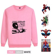 Spider-Man Marvel Superhero Graffiti O-NECK Cotton Sweatshirts Teen Winter Unisex Sweatshirt A193291