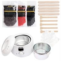 LED Temperature Display 500CC Hair Removal Hot Wax Heater Painless Anti allergy Depilatory Hot Film Hard Pellet Wax Beans Kit