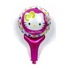 QGQYGAVJ Free shipping 1pcs new handheld kt cat cartoon aluminum balloons birthday party decoration balloon toy