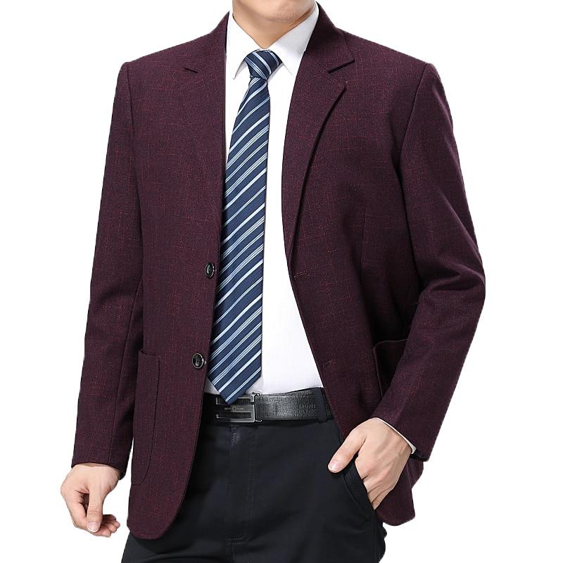 a3a1fb8b33 WAEOLSA Men Tailored Blazers Navy Blue Claret-red Blazer Masculino Man  Business Suit Jacket Costume