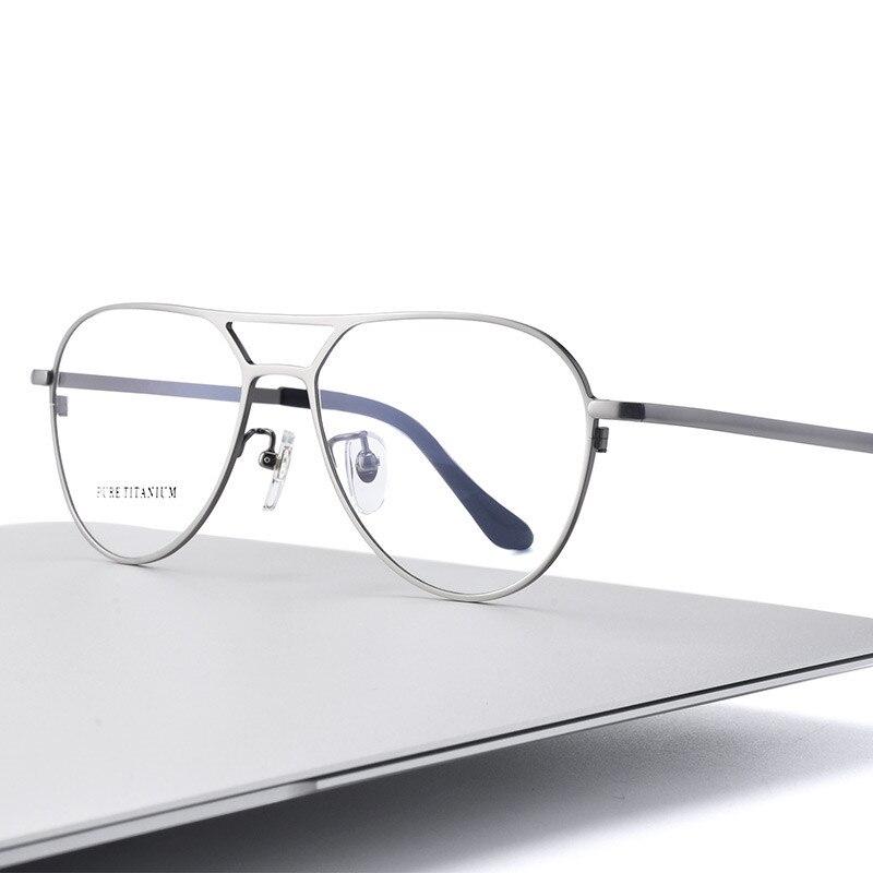 High Quality Men Wmen Frames Pure Titanium Full Frame Prescription Glasses Titanium Men Eyeglasses Optical Glasses