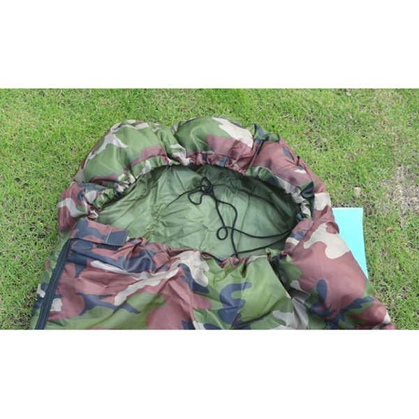 Nuova Vendita di Alta qualità Del Cotone Campeggio sacco a pelo, 15 ~ 5 gradi, stile della busta, esercito o Militare o sacchi a pelo camouflage