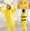 Pokemon Pikachu Cosplay Animal Hoodie Sleepwear Pajamas Adult Yellow Unisex Pikachu Onesie Cosplay Costume Pikachu Pajamas