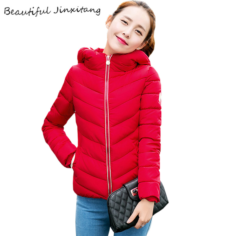 Plus Size Down jacket 2017New Thick Winter clothes for women Fashion Jacket female Long sleeve Zipper Hooded Coat female K269A0 fashionable thick hooded pleated down coat for women