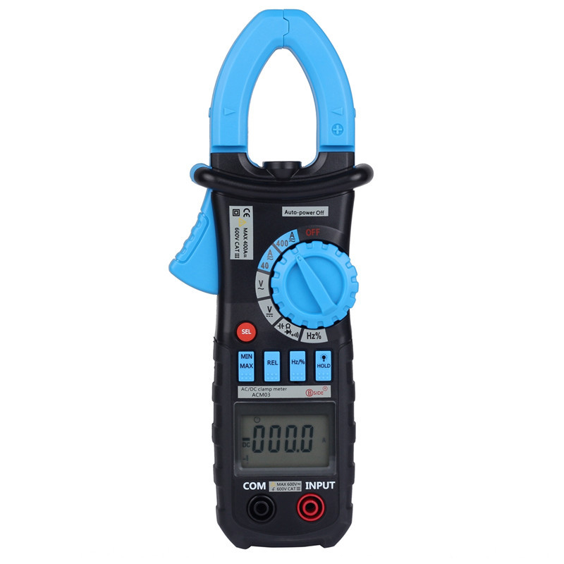 Bside ACM03 Auto Range Digital Multimeter AC/DC Current Clamp Meter Frequency HZ Capacitance Tester bside adm02 digital multimeter handheld auto range multifunction dmm dc ac voltage current temperature meters multitester