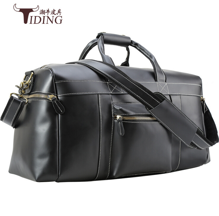 travel bags for man cow leather 2017 men black real leather vintage casual business  travel duffle handbags bags shoulder bags bokinslon handbags bags men cow split leather multifunction man business bags casual practical shoulder bags male