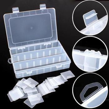 Life Essential 24 Compartment Storage Box Practical Adjustable Plastic Case for Bead Rings Jewelry Display Organizer 2