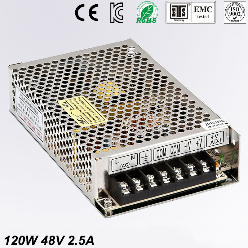 120W 48V 2.5A Mini size LED Switching Power Supply Transformer 220V AC to DC 48V power supply adjustable voltage MS 120 48