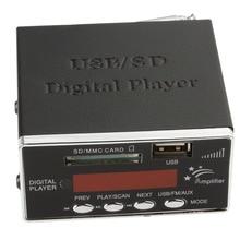 Amplificador de potencia MP3 Player Reader 4-electronic teclado Apoyo Tarjeta SD MMC USB con Control Remoto