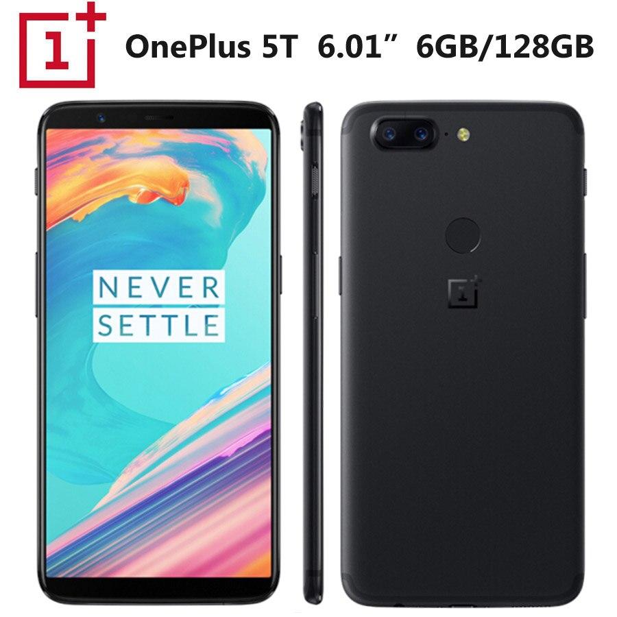 Brand New Onepls 5T A5010 LTE Callphone 8GB RAM 128GB RAM 20MP Snapdragon835 1080x2160p 6 01inch