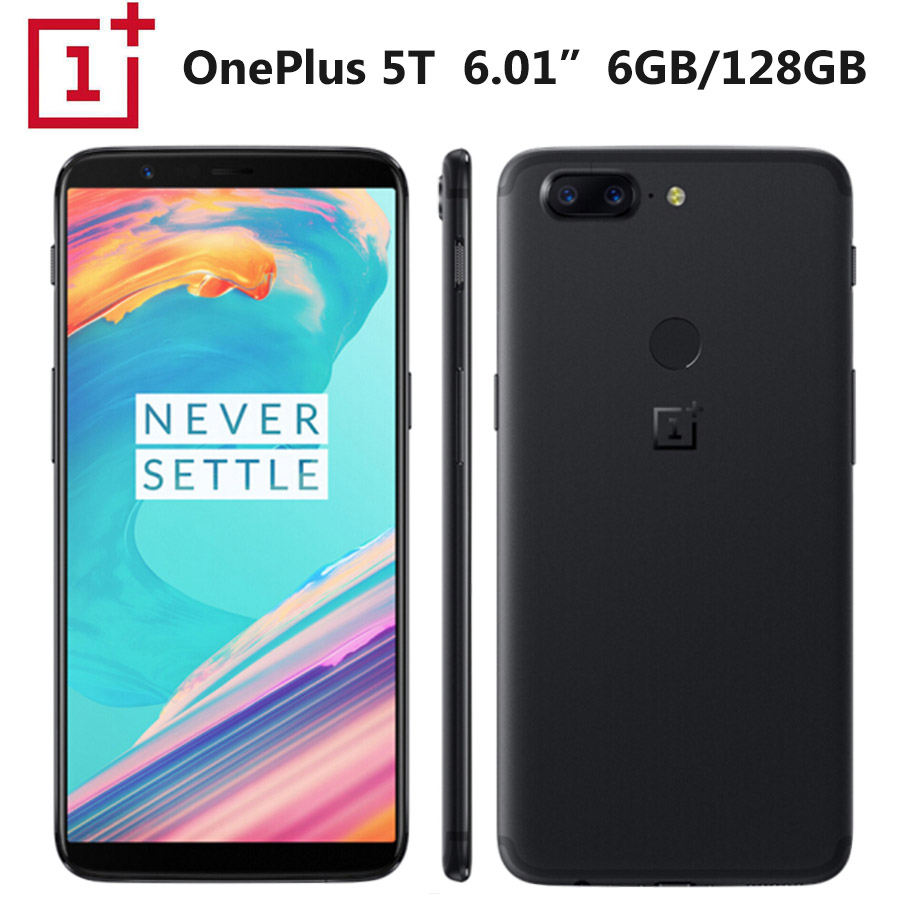 Brand New Onepls 5 T A5010 LTE Callphone 20MP Snapdragon835 8 GB de RAM 128 GB de RAM 1080x2160 p 6.01 polegada 18: 9 Fullscreen NFC Google Play