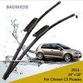 """Lâminas de limpador para Citroen C3 Picasso (a partir de 2011) 24 """"+ 16"""" fit baioneta tipo limpador braços só HY-015"""