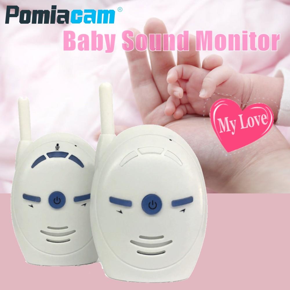 Portable 2.4GHz Digital Audio Baby Monitor V20 Two Way Radio Babysitter Audio Voice Monitoring Crying Alarm Baby Sound Monitor