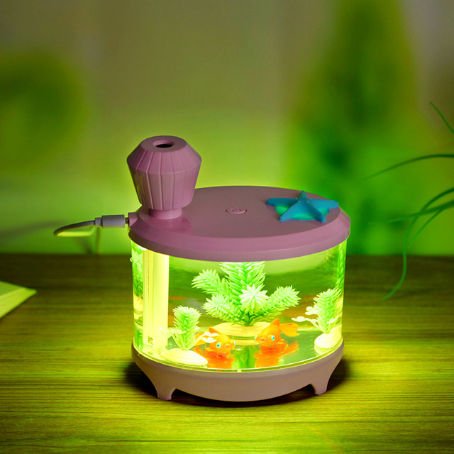 Jiaderui 460ml Baby Room Ultrasonic Cool Mist USB Humidifier with Night Light Whisper-Quiet 8 h Auto ON/OFF for Home Office Desk 3