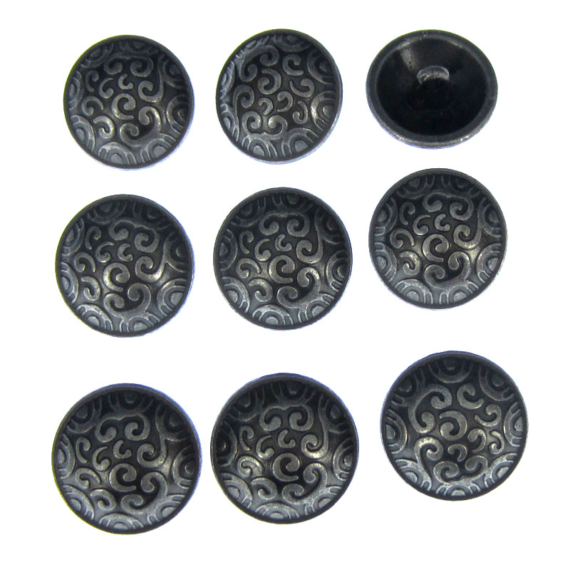 12pcs Round Black Bowknot Carving Suit Resin Shank Buttons Coat Craft 15mm 18mm