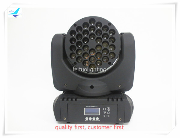 free shipping 10pcs/lot Led Stage DJ 36x3w Beam Lighting RGBW Moving Head Light DMX Color Mix Disco Effect Sound Active Bar Wash