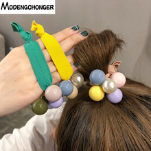 Women Hair Accessories Superior quality Colors Pearls Headbands Ponytail Holder Girls Scrunchies Elastic Rope  Headdress