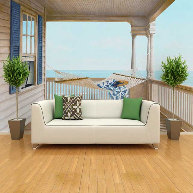 Custom 3d photo sea stereo scenery 3d wallpaper mural bedroom living room sofa background wall seamless extension of space