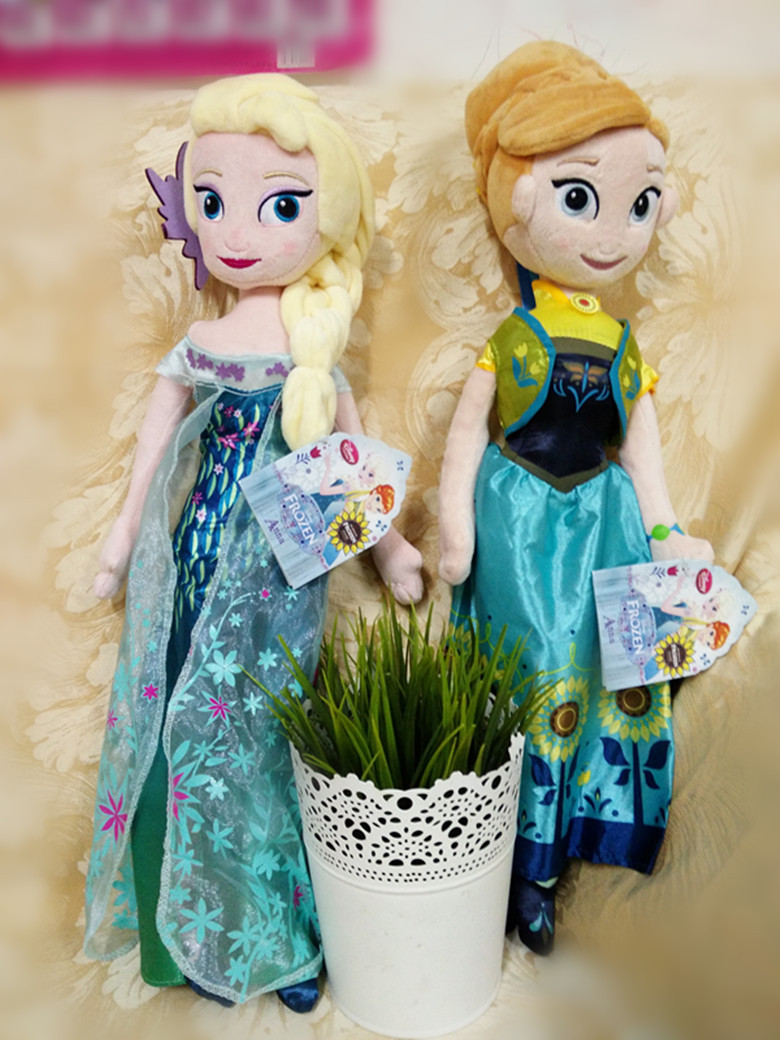 season 2 Unique Gifts 40cm Sweet Cute Girls Toys Princess Doll Pelucia Boneca Plush Toys anna