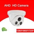 4 pcs Um Saco Plástico ABS Branco Dois Leds Matriz CMOS 1080 P/960/720 P Indoor camera Dome AHD CCTV Camera Frete Grátis
