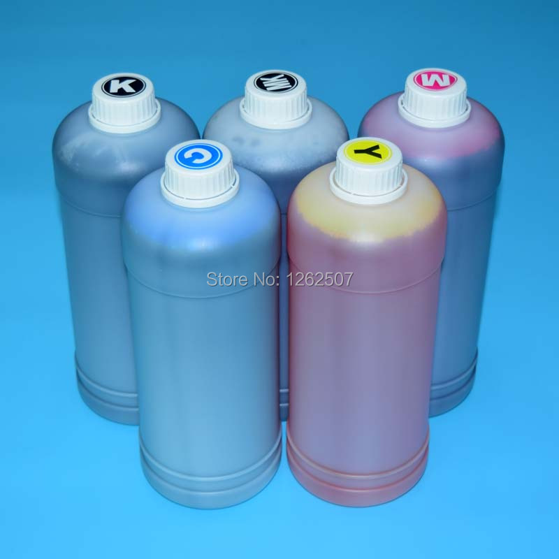 5 Color 1000ml printer dye ink for hp 364 564 178 for hp photosmart c5380 c6380 d5460 c309 printer ink bottle
