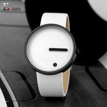 2017 regalo Enmex blanco y negro reloj de pulsera de estilo Minimalista creativo diseño de Punto y la Línea simple con estilo con el reloj de manera del cuarzo