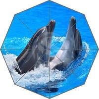 חמה למכירה אופנה מותאמת אישית W530L5 מים דולפין אמברלה סאני וגשום מטרייה אנטי Uv קרם הגנה F-L5