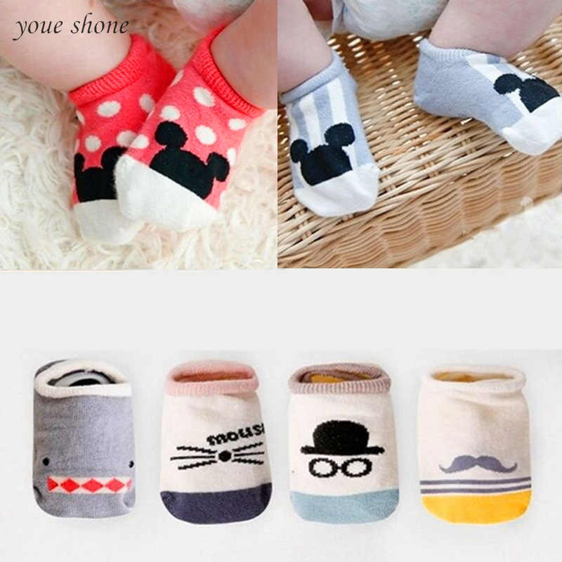 Hot!!! 2019 Super Cute Baby Socks Summer Autumn Cotton Cute Non-slip Boys Girls Newborn Infant Bebe Cartoon Soft Floor Wear