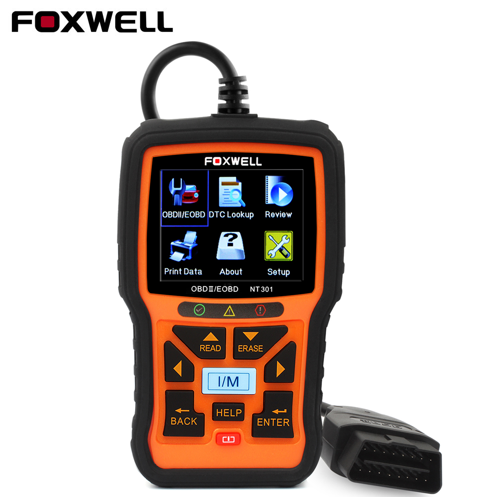 FOXWELL NT301 OBD 2 Automotive Scanner Car Engine Analyzer Error Code Reader Scanner OBD2 EOBD OBDII Auto Diagnostic Tool Scaner 2017 xtuner x500 bluetooth auto obdii code reader scanner works on andriod windows x500 obd2 car diagnostic tool free shipping