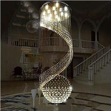Modern K9 Crystal Chandelier Lighting Hanging Ceiling Lamps Fixtures with LED Source Clear pendant lamp
