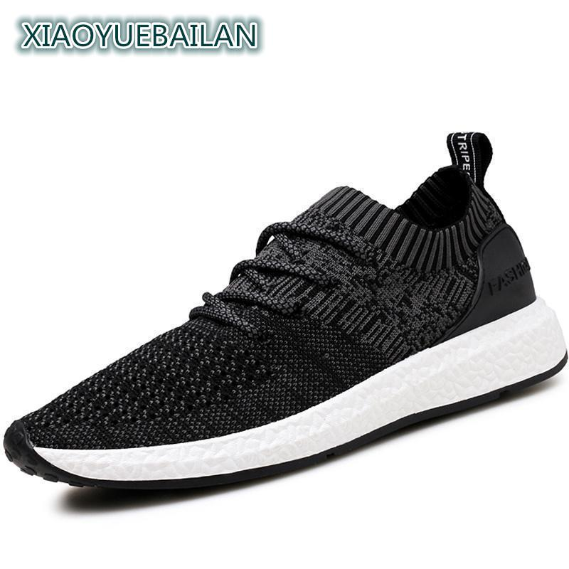 2018 Spring Tide Flying Shoes Fabric Increased Comfort Anti-skid Breathable Mesh Shoes Mens Casual Shoes 510