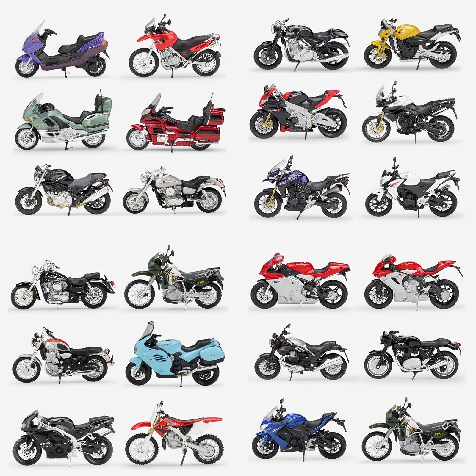 1:18 Welly Suzuki Honda Triumph Yamaha Aprilia Norton Diecast Motorcycle