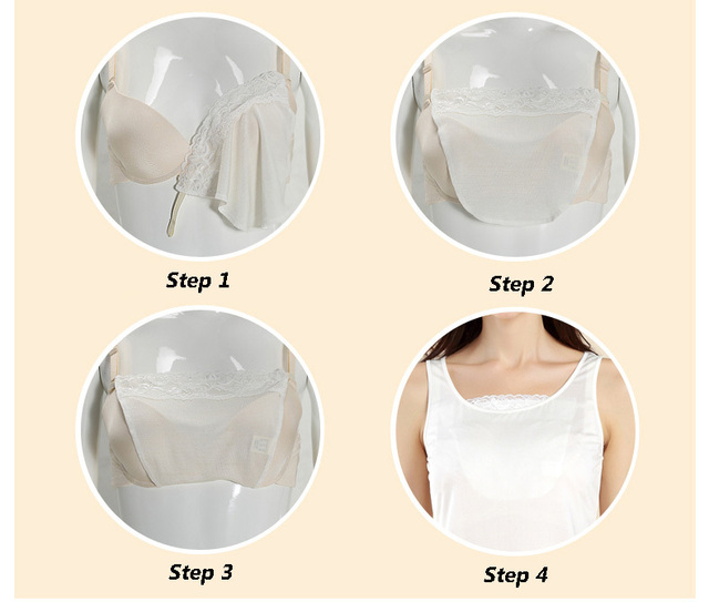 100% pure REAL SILK  women tube top Lace solid fashion Anti exposure bust Bra cover underwear