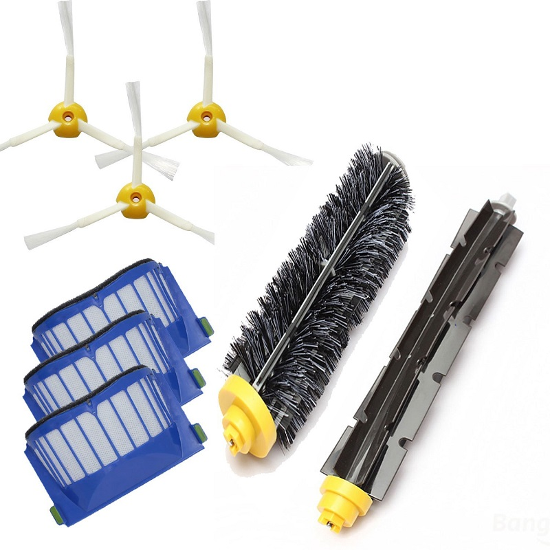 2016 Cheapest AeroVac Filter Side Brush Bristle  Flexible Beater Brush for iRobot Roomba 600 610 620 625 630 650 660 aero vac filter bristle brush flexible beater brush 3 armed side brush tool for irobot roomba 600 series 620 630 650 660